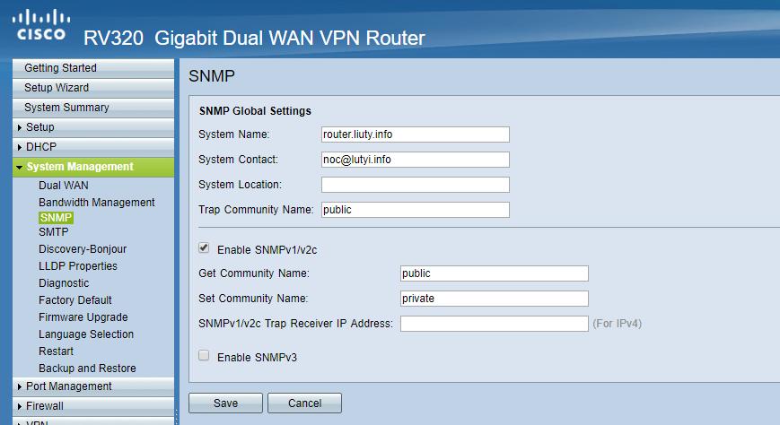 Cisco RV230 SNMP monitoring with Zabbix - DevOps - WIKI