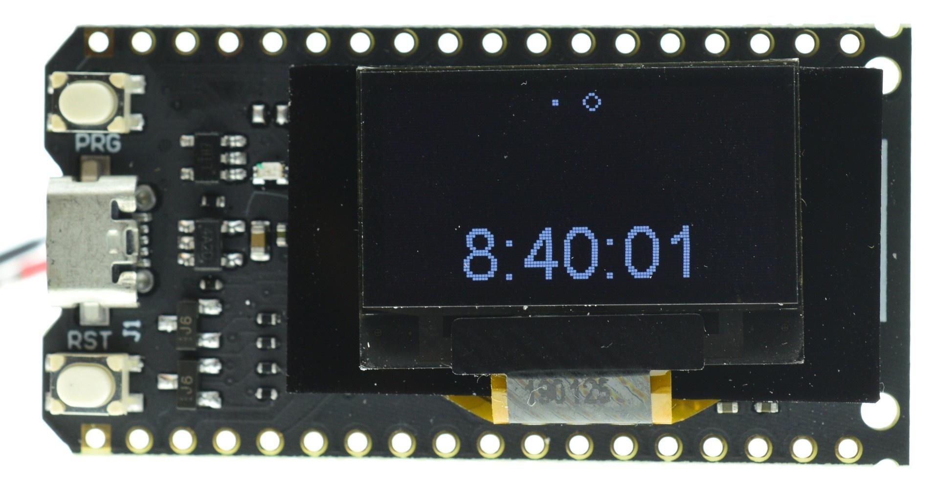 ESP32 TTGO V2 0 OLED Clock Demo - Arduino - WIKI