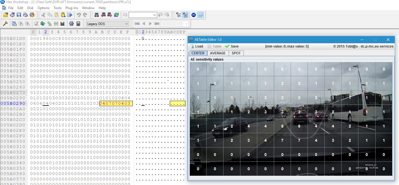 AE table edit using HEX editor - DVR - WIKI