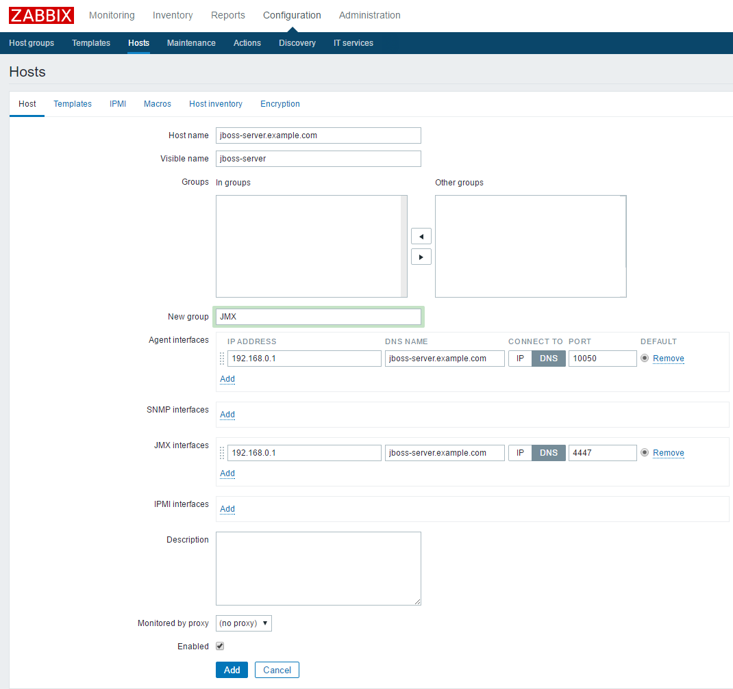 JBOSS JMX monitoring with Zabbix 3 0 - DevOps - WIKI